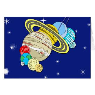 Ejemplo lindo de la Sistema Solar en tarjetas