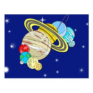 Ejemplo lindo de la Sistema Solar en tarjetas Tarjetas Postales