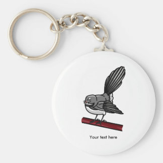 Ejemplo lindo de un pájaro de la cola de milano llavero redondo tipo pin