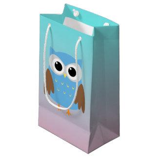 Ejemplo lindo del búho bolsa de regalo pequeña