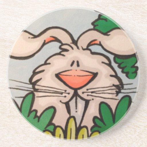 ejemplo lindo del conejo posavasos para bebidas