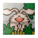 ejemplo lindo del conejo teja cerámica
