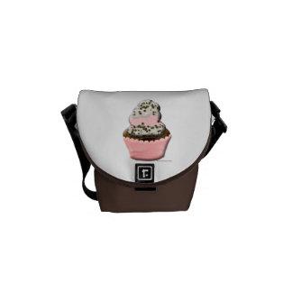Ejemplo lindo del diseño de la magdalena del molle bolsas de mensajería