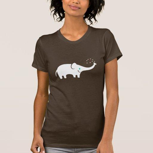 Ejemplo lindo del elefante del dibujo animado camiseta