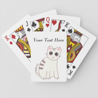 Ejemplo lindo del gato de Kawaii Baraja De Póquer