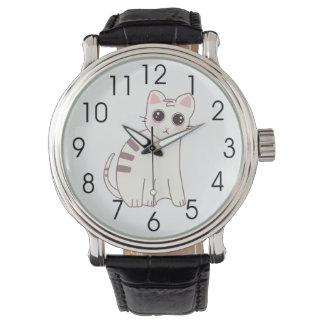 Ejemplo lindo del gato de Kawaii Relojes