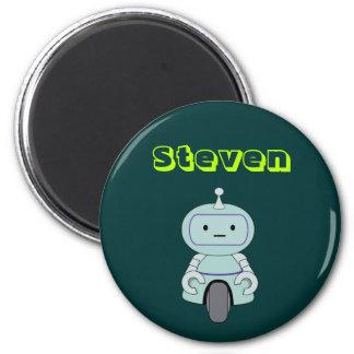 Ejemplo lindo personalizado del robot imán redondo 5 cm