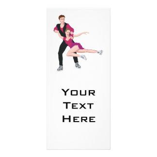 ejemplo los pares del patinaje artístico tarjeta publicitaria