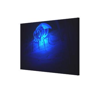 Ejemplo luminescente de una mosca de tsetse impresión en tela