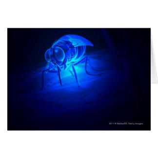 Ejemplo luminescente de una mosca de tsetse tarjeta de felicitación