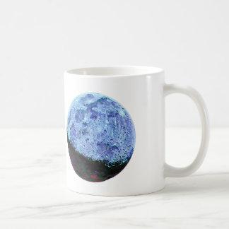 Ejemplo lunar de la luna azul de Sci Fi del vintag Tazas