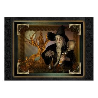 Ejemplo mágico ACEO de la fantasía de los magos Tarjetas De Visita Grandes