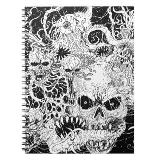 Ejemplo malvado de la freza de la muerte libretas espirales