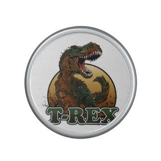 ejemplo marrón y verde del t-rex impresionante altavoz con bluetooth