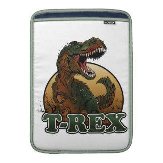 ejemplo marrón y verde del t-rex impresionante fundas para macbook air