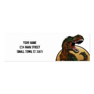 ejemplo marrón y verde del t-rex impresionante tarjetas de visita mini