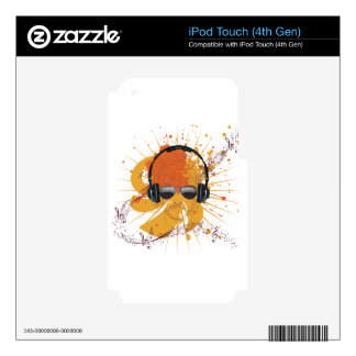 Ejemplo masculino 2 de DJ iPod Touch 4G Calcomanía