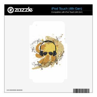 Ejemplo masculino 3 de DJ Skins Para iPod Touch 4G