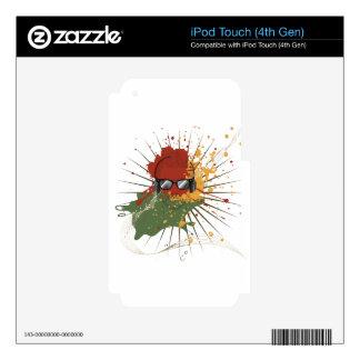 Ejemplo masculino de DJ iPod Touch 4G Skin