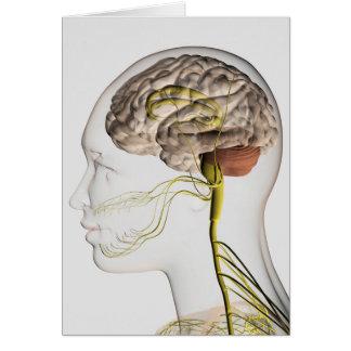Ejemplo médico del sistema nervioso humano 1 tarjeta de felicitación