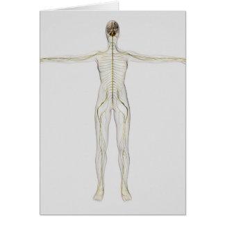 Ejemplo médico del sistema nervioso humano tarjeta de felicitación