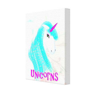 Ejemplo mítico mágico bonito del unicornio impresión en lona