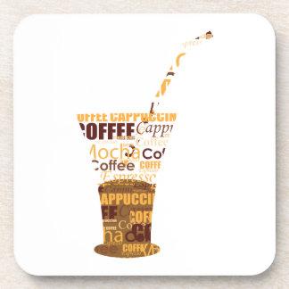 Ejemplo moderno del café posavasos