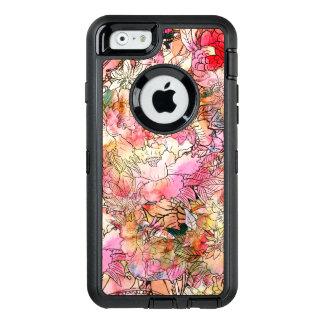Ejemplo moderno del estampado de flores de la funda otterbox para iPhone 6/6s