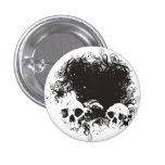 Ejemplo negro y blanco de los cráneos del Grunge Pins