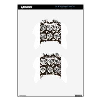 Ejemplo negro y blanco del diseño del pavo real mando xbox 360 calcomanía