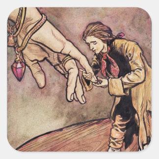 Ejemplo original del watercolour para Gulliver Colcomanias Cuadradas