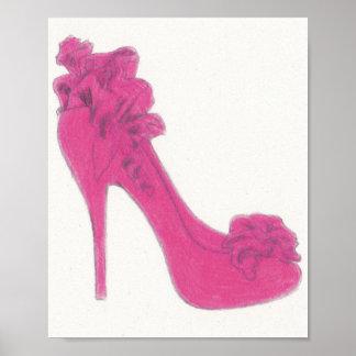 Ejemplo original del zapato de Christian Louboutin Impresiones