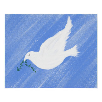 Ejemplo pacífico de la paloma impresiones