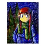 Ejemplo Painterly del muchacho de la luz de las es Tarjetas Postales