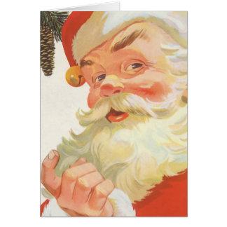 Ejemplo Papá Noel del vintage Tarjeta De Felicitación