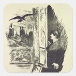 Ejemplo para 'el Raven Calcomanía Cuadradase