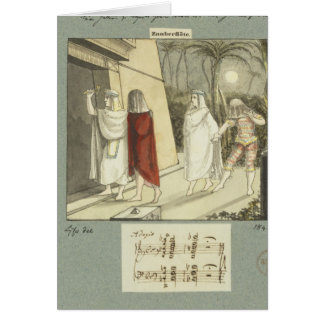 """Ejemplo para """"la flauta mágica"""" de Mozart, 1845 Tarjeta De Felicitación"""