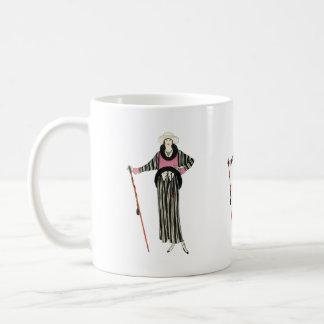 ejemplo para mujer de la moda de los años 20 taza de café