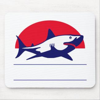 Ejemplo personalizado tiburón alfombrillas de ratón