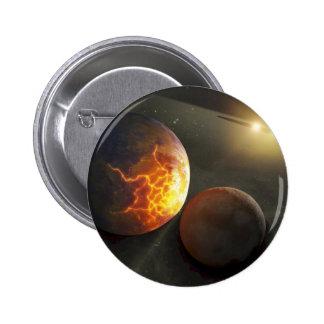 Ejemplo planetario del desplome del Apagado-Mundo Pin