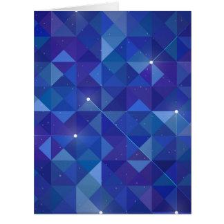 Ejemplo poligonal azul de la galaxia tarjeta de felicitación grande