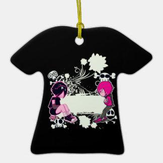 ejemplo profundo del vector de los pensamientos adorno de cerámica en forma de camiseta