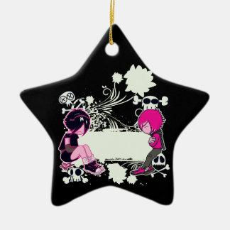 ejemplo profundo del vector de los pensamientos adorno de cerámica en forma de estrella