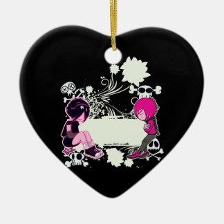 ejemplo profundo del vector de los pensamientos adorno de cerámica en forma de corazón