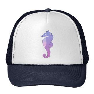 Ejemplo púrpura azul del caballo de mar gorro de camionero