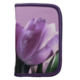 Ejemplo púrpura de los tulipanes organizadores