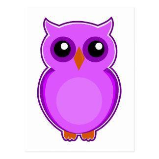 Ejemplo púrpura lindo de la animación del búho postal