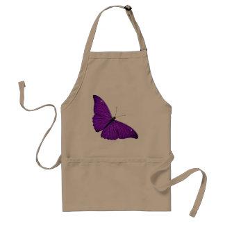 Ejemplo púrpura oscuro de la mariposa de los 1800s delantal
