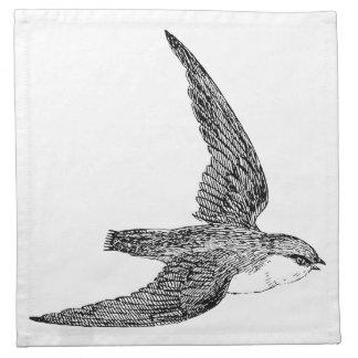 Ejemplo rápido del pájaro servilleta