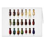 Ejemplo retro de Bettles de los insectos del kitsc Tarjeta